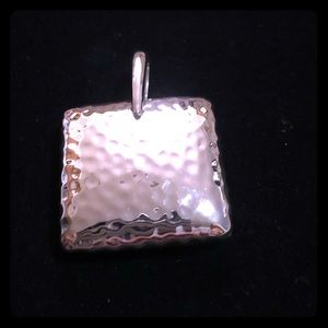 Silpada Retired Sterling Silver Hammered Pendant